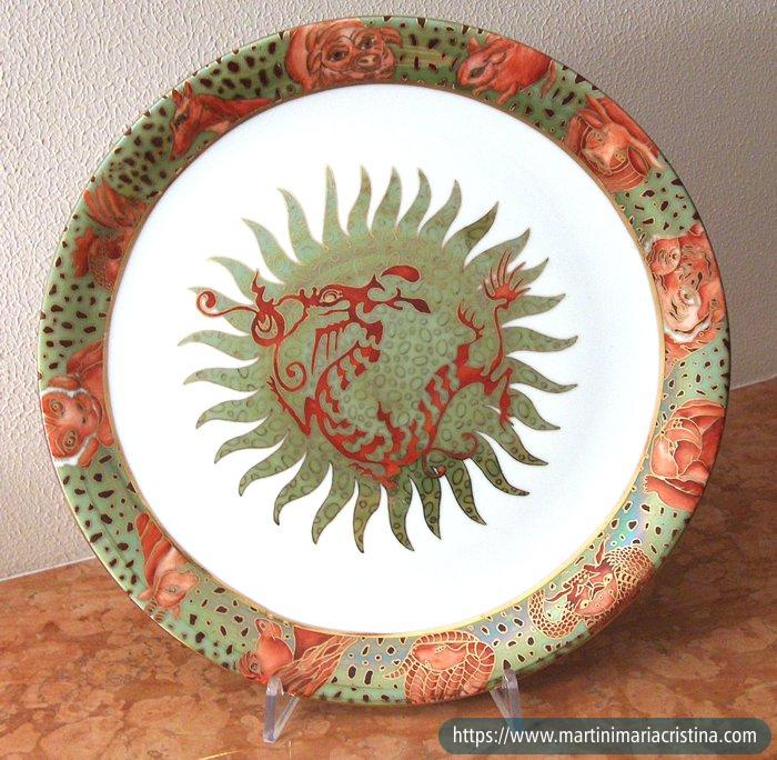 Piatto i segni dell 39 astrologia cinese maria cristina for Piatto cinese